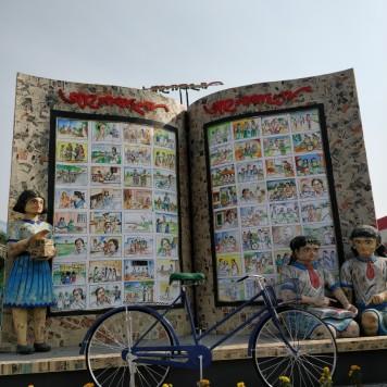 Big cycle on display