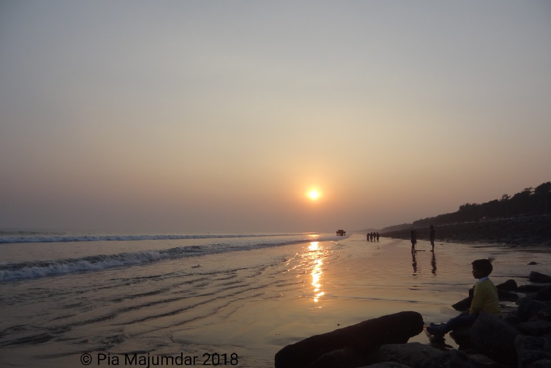 Sunrise,Digha beach- West Bengal, India.