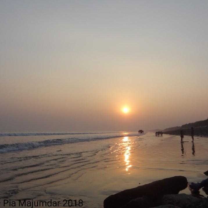 Sunrise,Digha beach- West Bengal, India.