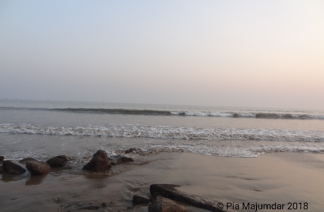 open sea,Digha beach- West Bengal, India.