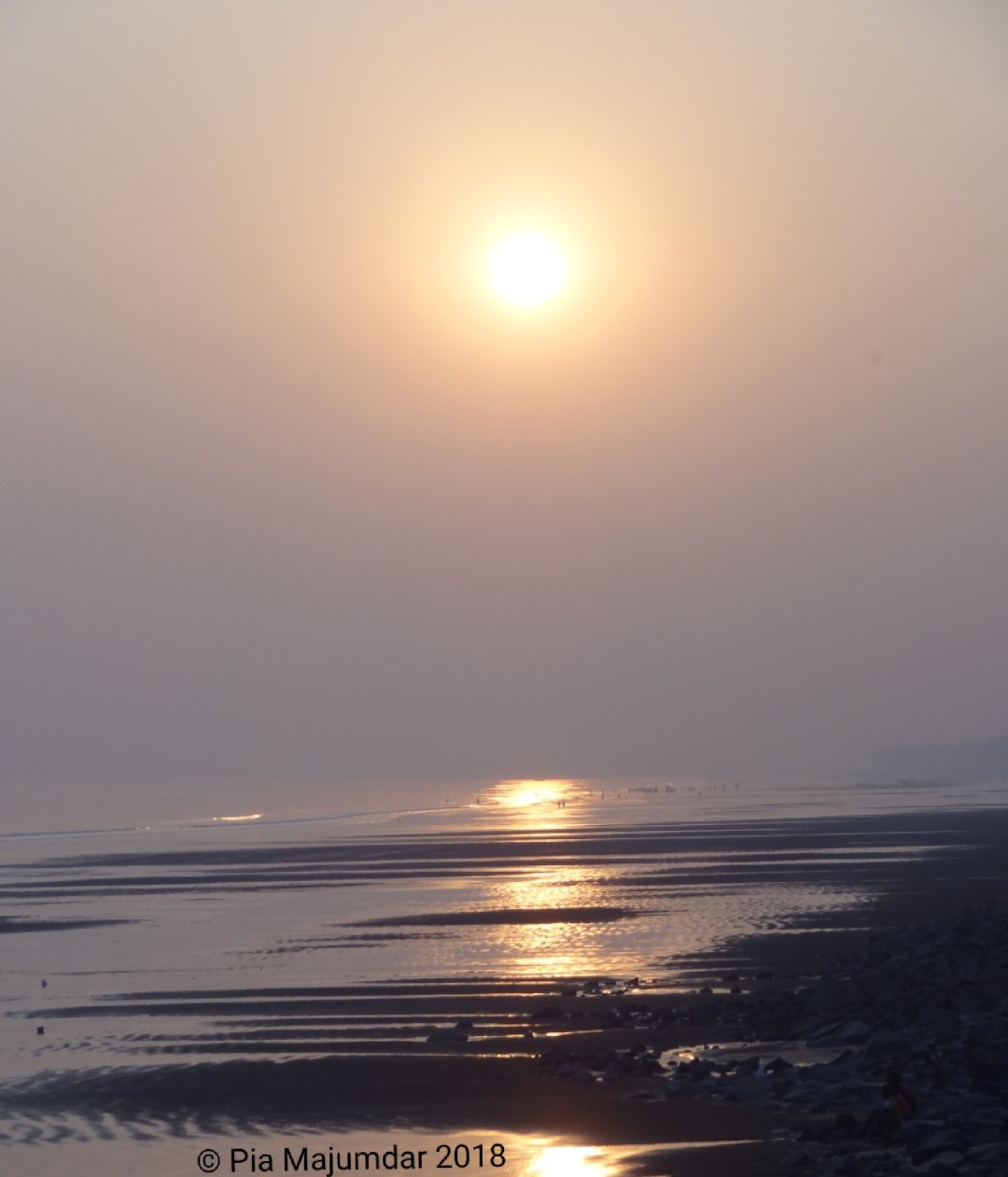 Sunrise, Digha beach- West Bengal, India.
