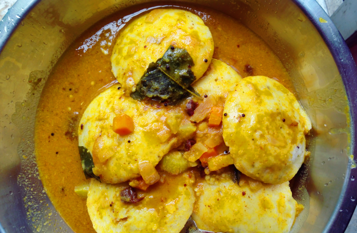 Rava Idli with Sambar