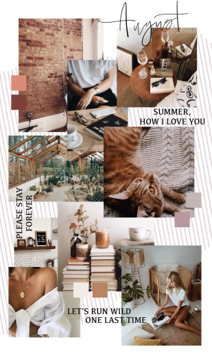 August mood board inspiration