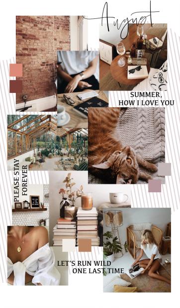 August mood board inspiration
